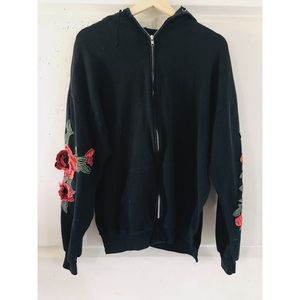 LF Rose Embroidered Zip Up Jacket 🌹